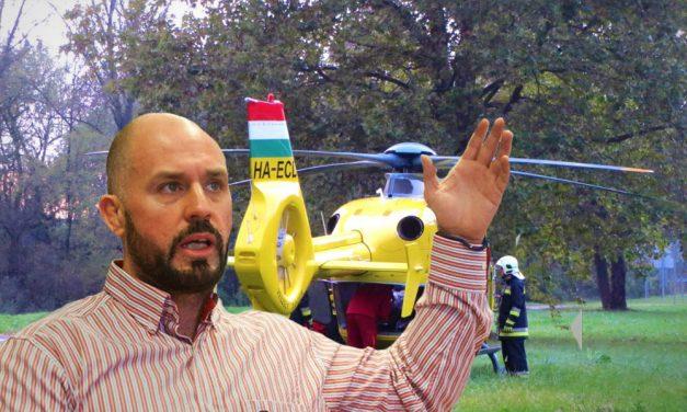 Helikopterrel vitték kórházba Dunakesziről Dopemant