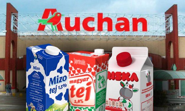 Szándékos lehet a tejszennyezés! Az Auchan ezeket a tejeket hívja vissza