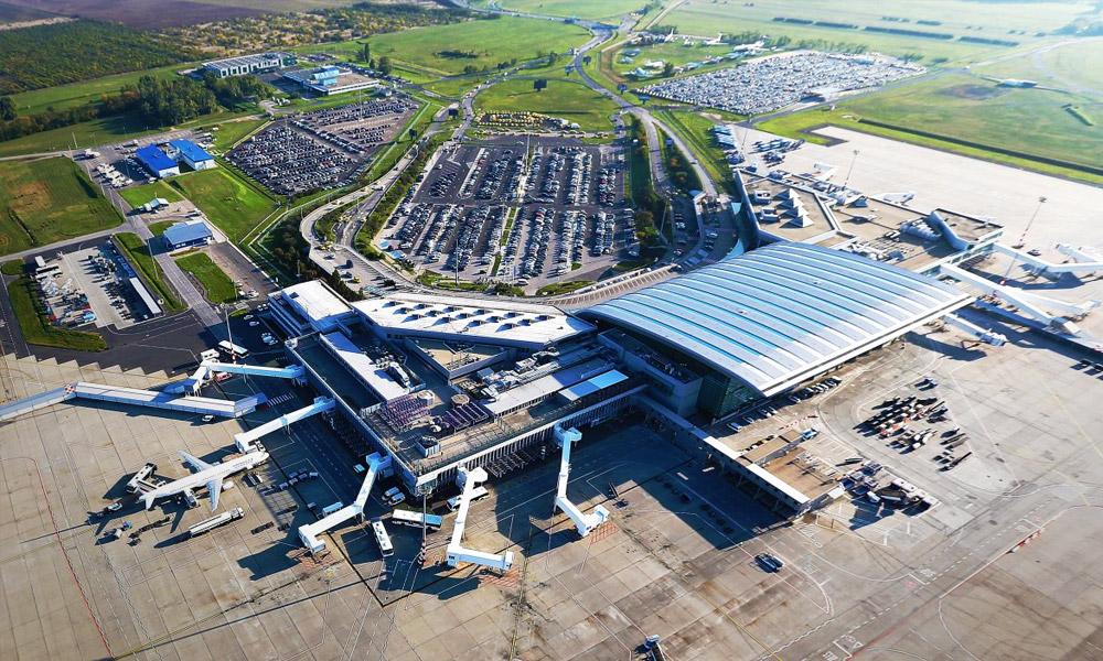 Elkészült a Liszt Ferenc Nemzetközi Repülőtér 2. termináljához vezető körforgalom