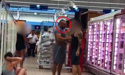 Balhé és verekedés a budaörsi Tescoban, ezt a férfit keresi most a rendőrség – VIDEÓ!