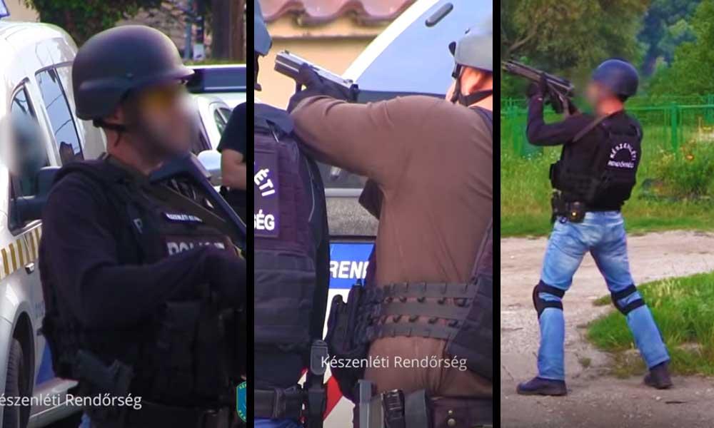Rendőrségi akció gépfegyverekkel az agglomerációban – VIDEÓ!