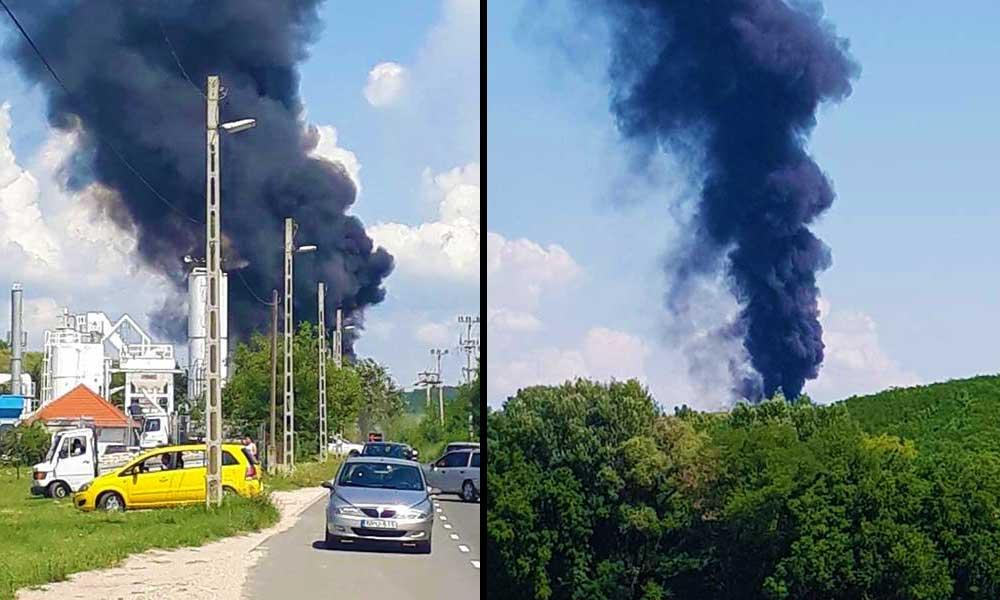 Óriási fekete füstfelhő a pesti agglomerációban! Vizsgálják a levegőt a környéken