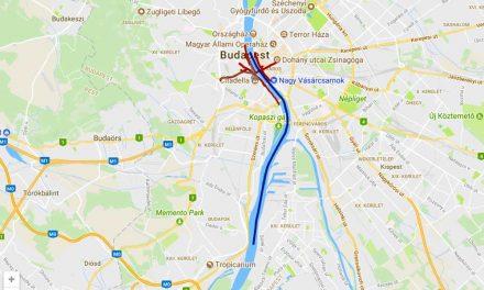 Bombát találtak a Dunában, óriási lezárások lesznek – Térkép!