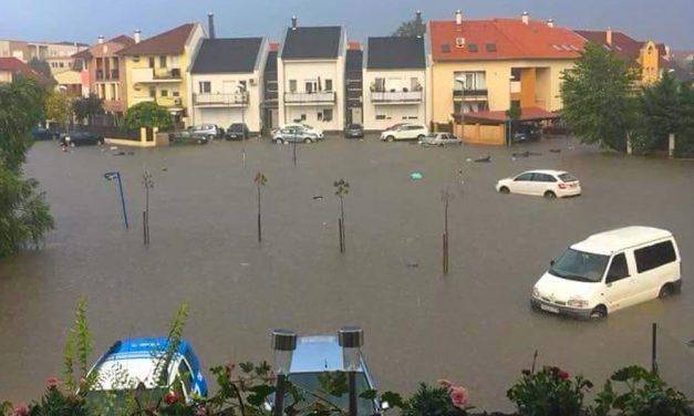 Fertőtlenítés és összefogás a vihar után Dunakeszin, nagyon drága lesz a vízelvezetés megoldása
