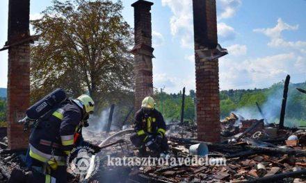 Csak három kémény maradt a Pilisvörösváron leégett házból