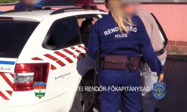 Két drogdílert kapcsoltak le a pesti agglomerációban, videón a letartóztatásuk