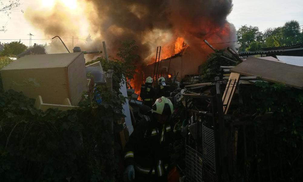 A tűz martaléka lett egy családi ház Érden