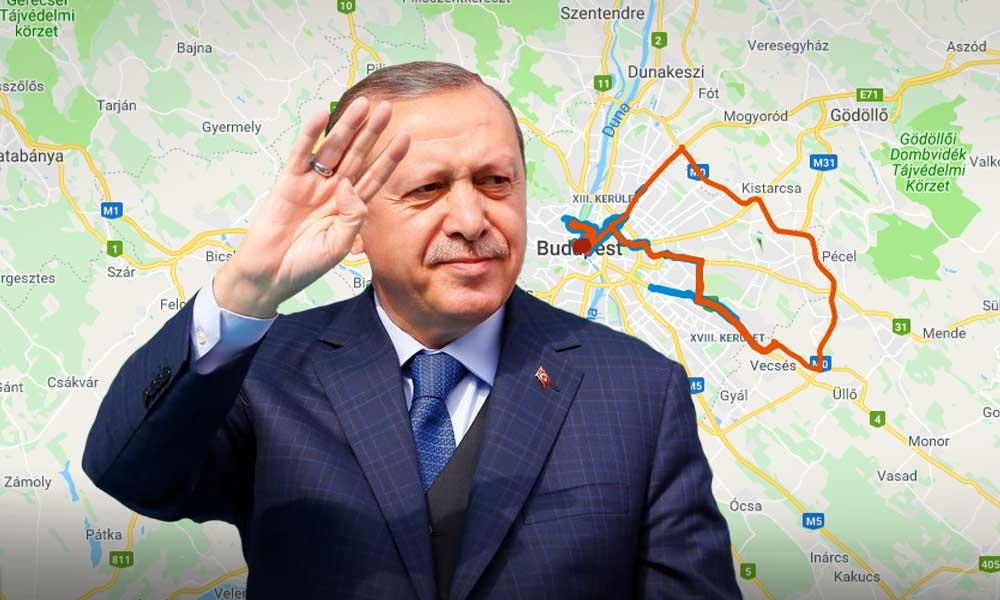 A török elnök miatt nehéz lesz hétfőn és kedden a közlekedés, mutatjuk a térképet!
