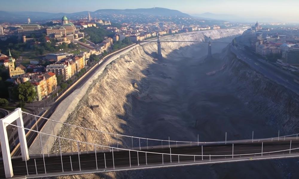 Ilyen lehet a Duna medre víz nélkül – Látványos videó!