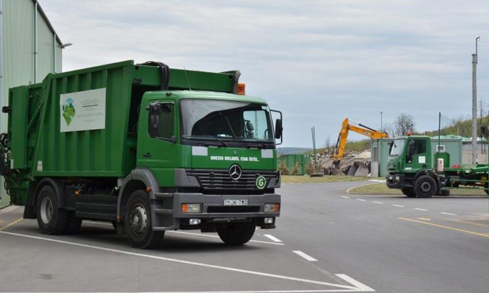 A katasztrófavédelem kukásautói érkezhetnek oda, ahonnét a Zöld Híd nem viszi el a szemetet