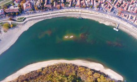 Látványos drónvideó készült a rekordalacsony vízállású Dunáról