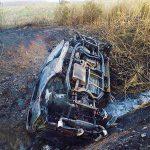 Kirepült az autóból a sofőr, majd kiégett a jármű