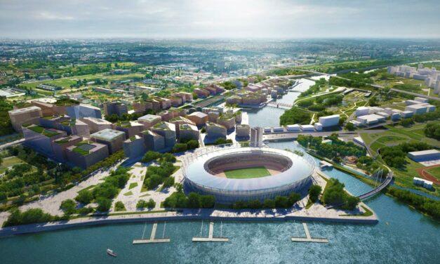 Ultramodern, látványos városközpont épül a Csepel-sziget jelenleg lepattant északi csücskénél