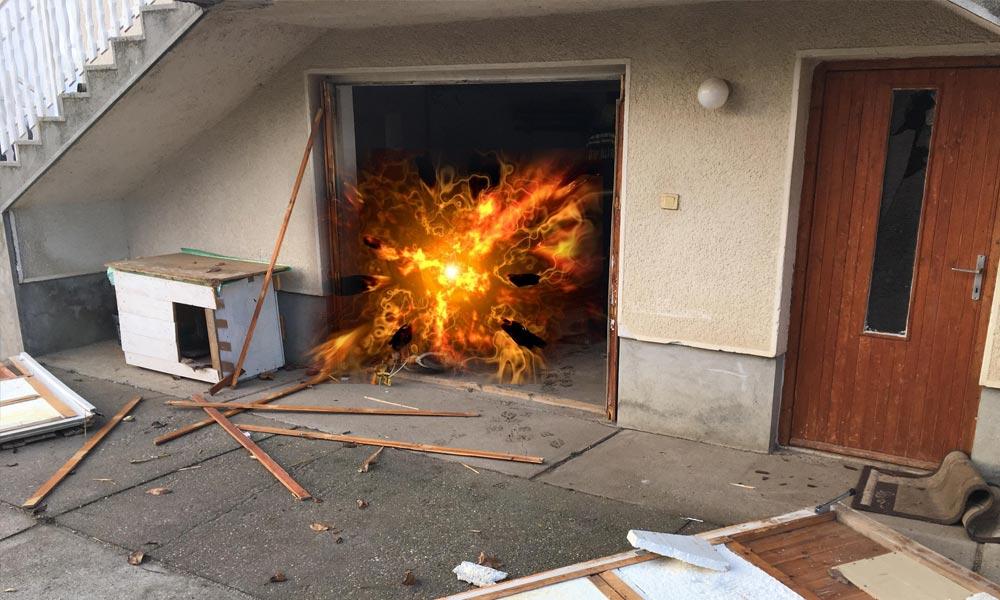 Kiszakadt a ház ajtaja, akkorát robbant a kazán egy szadai házban