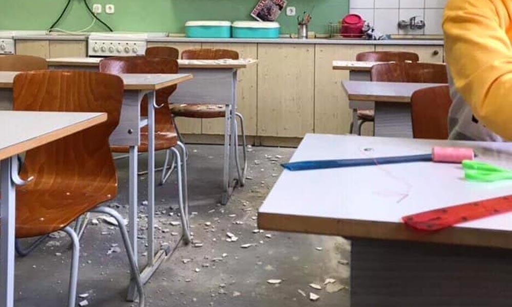Majdnem a gyerekekre szakadt a vakolat egy gödi iskolában