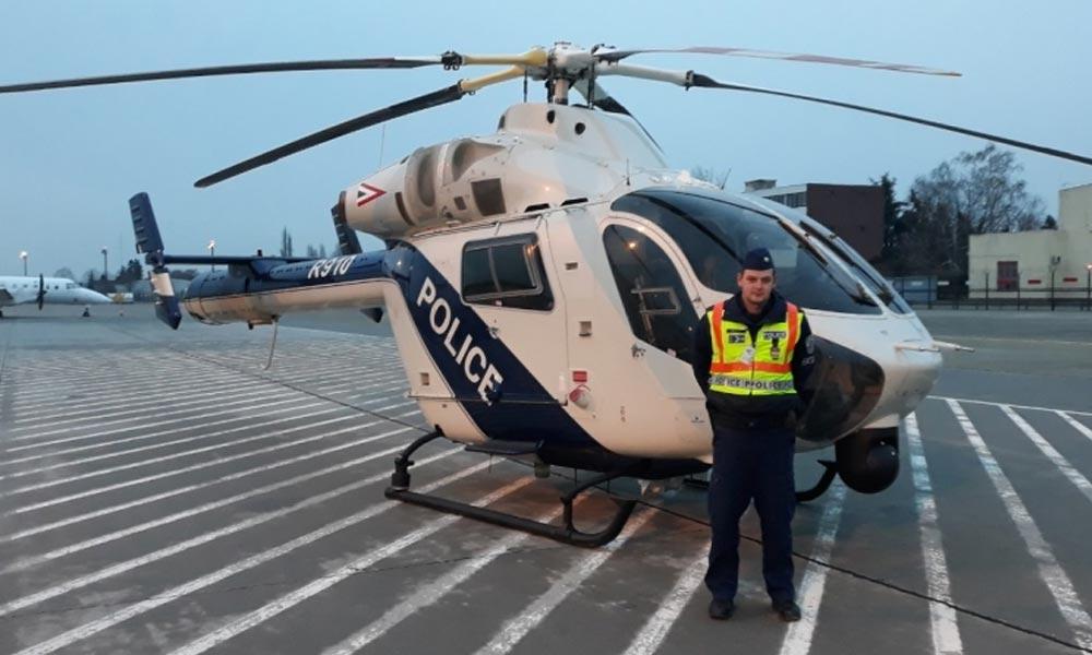 Helikopteres rendőrségi razzia a pesti agglomerációban