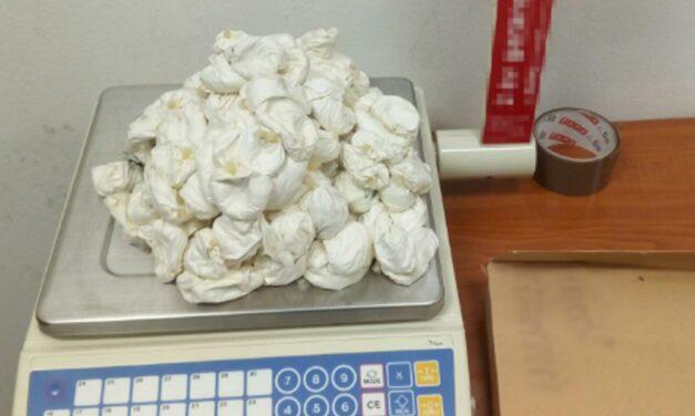 Hatalmas drogfogás Ferihegyen – 300 gumióvszerben volt a 60 milliónyi kokain