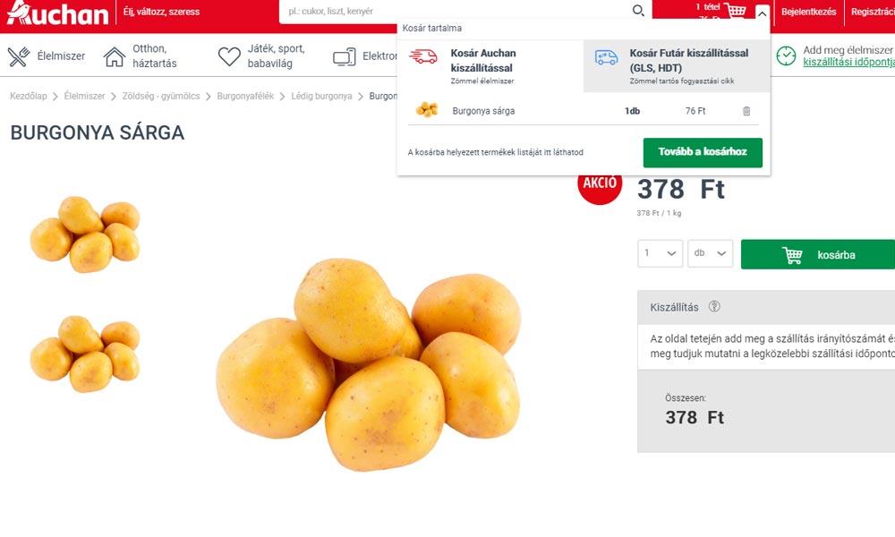 Ezt is megértük: Darabáron adják a krumplit az Auchanban
