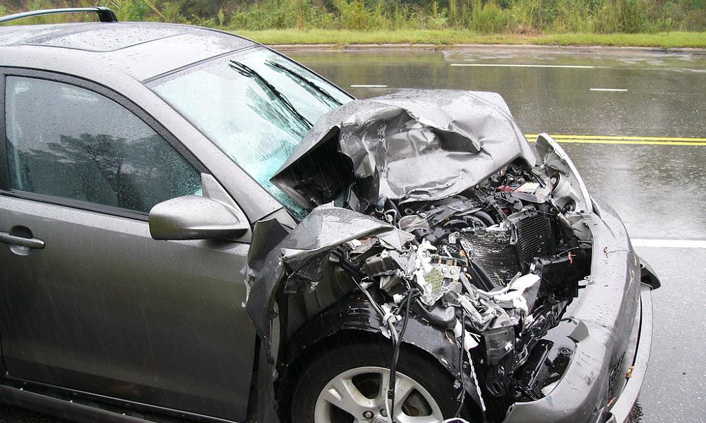 A baleset az M3-as bevezetőjén, torlódásra kell számítani
