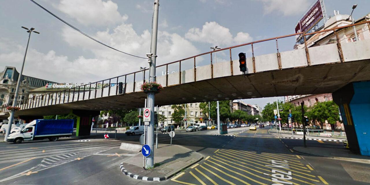 Elbontják a Nyugati téri felüljárót – a dugódíj lehet a háttérben?