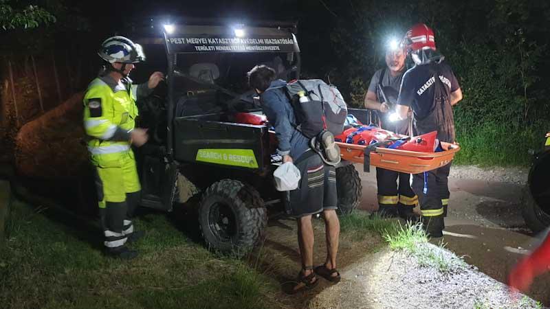 Akciódús mentés Szentendrénél: Qaddal segítettek egy nagy bajba jutott túrázón