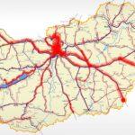 Egy nagy piros folt az agglomeráció a MÁV térképén