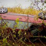 A kukoricásba csapódott egy autó az agglomerációban