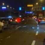 Két baleset az M0-áson: Felborult egy autó a Megyeri hídon, és két kamion is ütközött