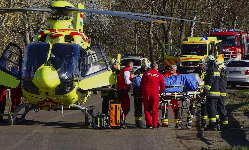Rendőrökre támadtak a pesti agglomerációban, mentőhelikopterrel vitték kórházba a sérülteket
