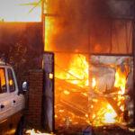 Felrobbant egy gázpalack, nagy lángok lobogtak Érden