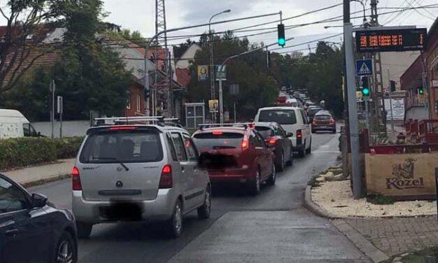 Péntekig biztosan szinte lehetelen lesz közlekedni Budakeszin