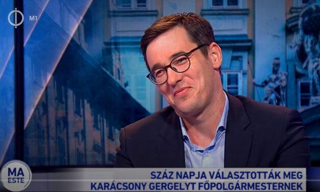 Fürjes Balázs államtitkár szerint vállalhatatlan dolgot művelt az állami tévé a főpolgármesterrel