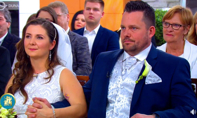 Élő tévéműsorban házasodtak össze a budaörsi szerelmesek