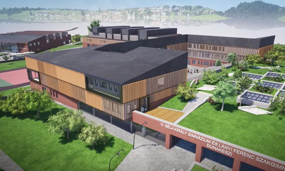 A jövőbe lökik Dunakeszit, szupermodern oktatási központ épül a város szélén