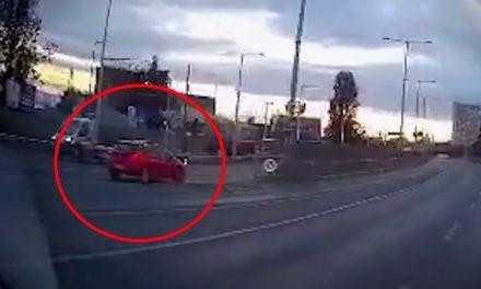 Az idióta autós az M3 bevezetőn hajtott szembe a forgalommal