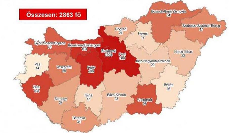 11 beteg halt meg koronavírusban, a fertőzöttek több mint fele Budapesten és Pest megyében van