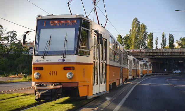 Szombattól pótlóbusz jár az 1-es villamos helyett a Hungária és a Könyves Kálmán körúton