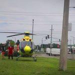 Elgázoltak egy gyalogost Dunaharasztiban, mentőhelikopter érkezett a helyszínre