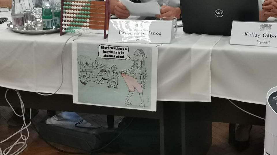 Megalázó és sértő karikatúrát rakott ki Baranyi Krisztináról fideszes elődje