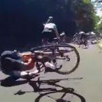 Durva videó a balatonfelvidéki kerékpárversenyen történt tömegbalesetről