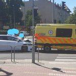 Mentőautó karambolózott Budapesten