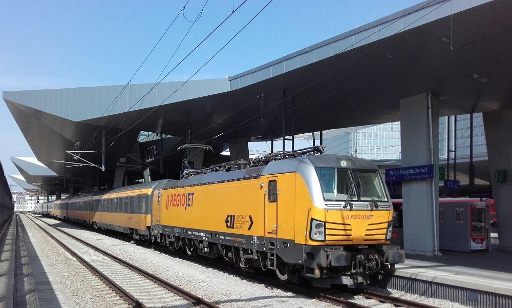 Új naponta kétszer közlekedő vasúti járat Budapest-Bécs-Brno-Prága útvonalon