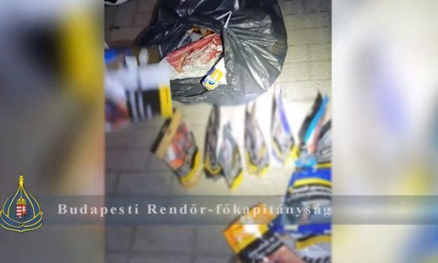 Az újpesti rendőrök tetten érték a dohánybolti tolvajokat – videó