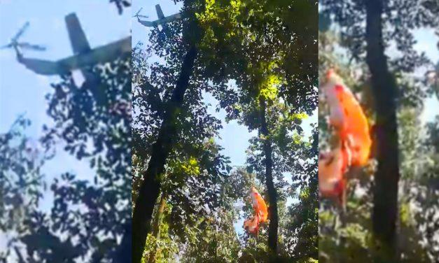 Újabb videó arról, hogy a honvédségi helikopter miért törte ketté azt a fát, amiről egy siklóernyőst akartak lehozni