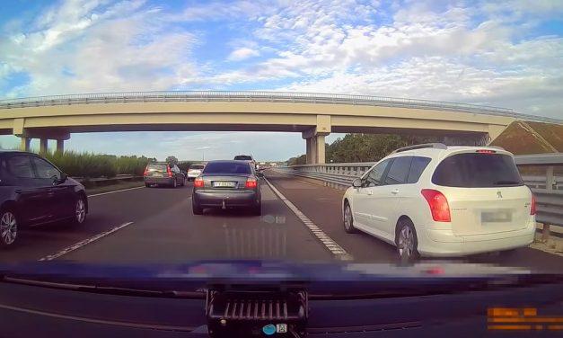 Kemény bírságot kaptak a pofátlan autósok az M7-esen, a közlekedők megtapsolták a rendőröket