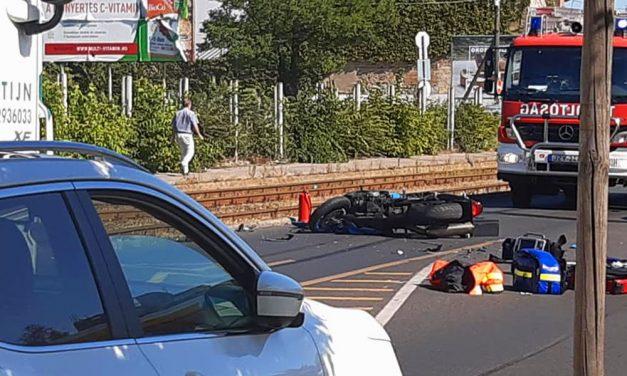 Tragikus motorbaleset az Üllői úton a Shell kútnál