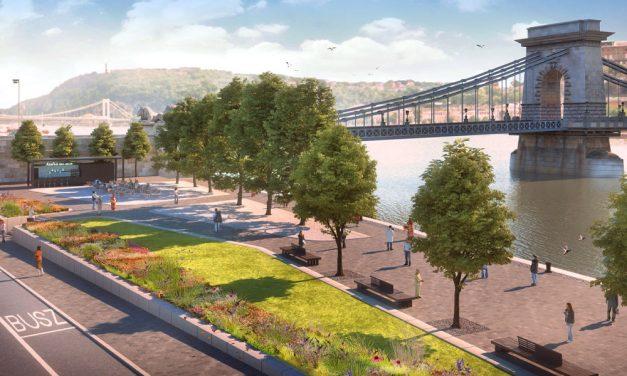 Ilyen lehetne a rakpart autók nélkül, sokan korlátoznák a forgalmat a Duna-parton