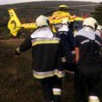 Két turista sérült meg Budaörsnél, hordágyon hozták le a katasztrófavédők a súlyosan sérült kirándulót a hegyről