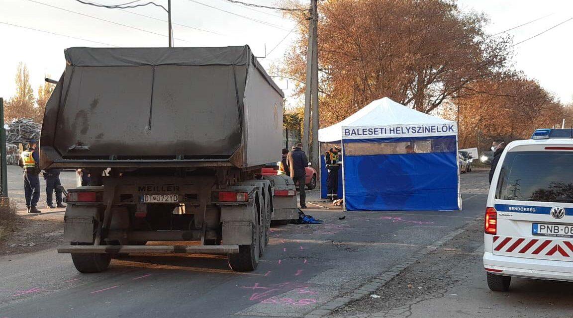 Teherautó gázolt egy gyalogost Újpesten: a járókelő a helyszínen meghalt