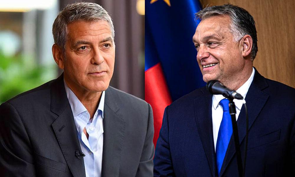 """""""Nemsokára minden megváltozik"""" – Ismét odaszólt Orbán Viktornak George Clooney"""